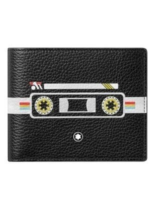 Portefeuille porte-cartes 6cc montblanc mix tape soft grain 123735