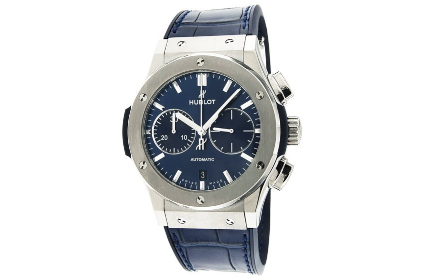 montre hublot classic fusion blue chronograph 521. Black Bedroom Furniture Sets. Home Design Ideas
